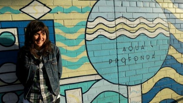 """Courtney Barnett at the Fitzroy pool: """"Basically, everything I sing about is something that happened."""""""