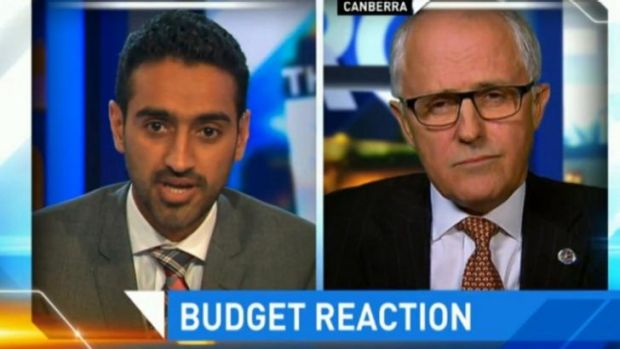 """""""Where's the money?"""": Waleed Aly faced off with Malcolm Turnbull."""