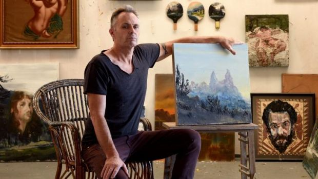 Thirroul artist Paul Ryan paints to music, and Texan singer Bill Callahan is a favourite background companion.
