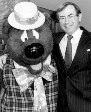 Old mates: Humphrey with John Howard.