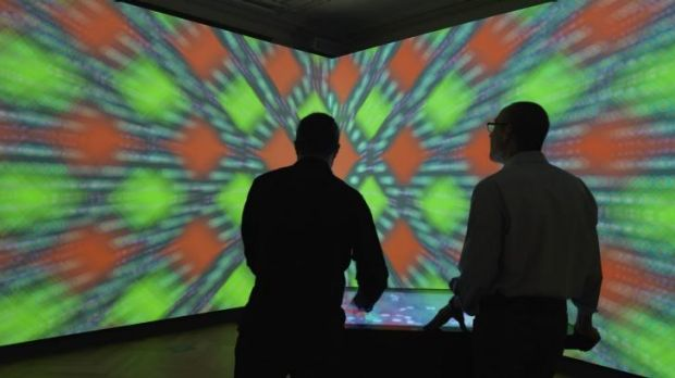 Innovative surrounds: The immersion room at the Cooper Hewitt.