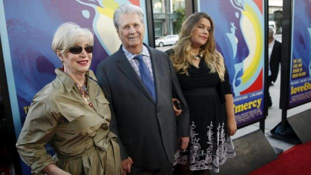 Brian Wilson, wife Melinda Ledbetter and a family member at the premiere of the film.