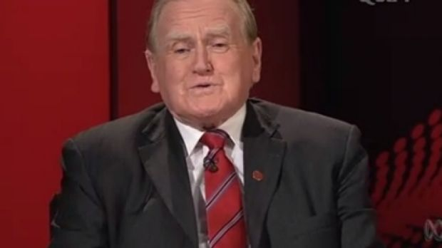 Conservative politician Fred Nile on ABC's <i>Q&A</i> in 2013.