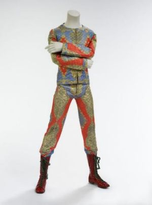 Quilted two-piece suit, 1972. Designed by Freddie Burretti for the Ziggy Stardust tour.