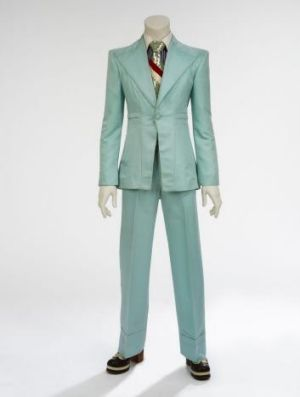 Ice-blue suit, 1972. Designed by Freddie Burretti for the 'Life on Mars?' video.