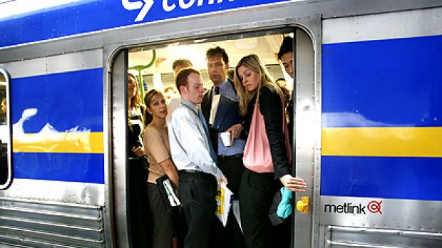 Squeeze ... Melbourne's public transport patronage is experiencing 'extraordinary' growth.