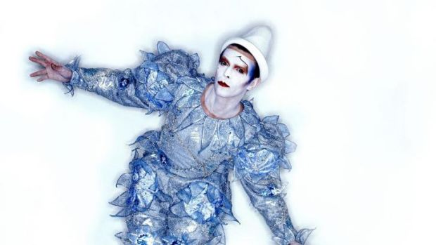 David Bowie in the ''Pierrot' costume designed for his 1980 Ashes to Ashes video clip.