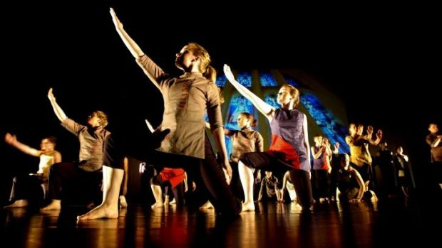 Caitlin Mackenzie, right, in the original production of Reckless Valour performed in 2005.