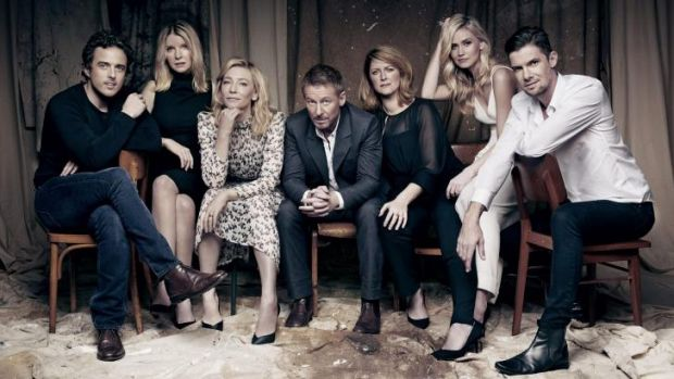 Agents of change: Chris Ryan (left), Jacqueline McKenzie, Cate Blanchett, Richard Roxburgh, Susan Prior, Anna Bamford ...