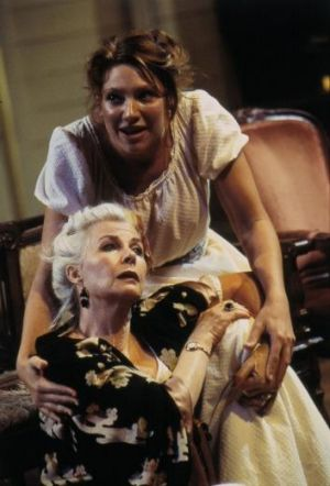 Ranevskaya (Robyn Nevin), with Anya (Anna Torv), is a dangerous, wild spirit in <i>The Cherry Orchard</i>.