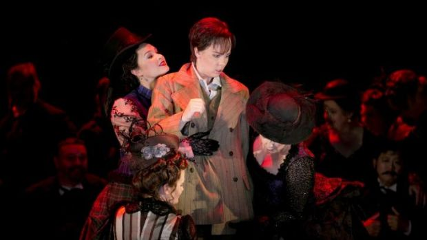 Anna Dowsley in the role of  a young man,  Siebel, in Faust.