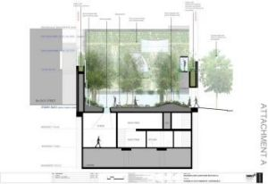 A garden designed by artist Janet Laurence will link the gallery to a performance space in Judith Neilson's proposed ...