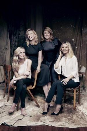 Stars of Sydney Theatre Company's The Present: Anna Bamford (left),  Cate Blanchett, Susan Prior and Jacqueline McKenzie.