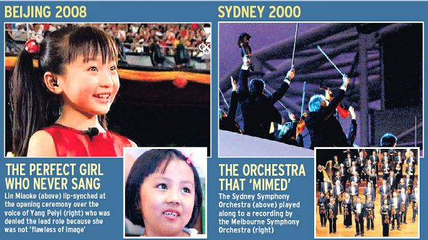 Great Olympic musical deceptions of our time.