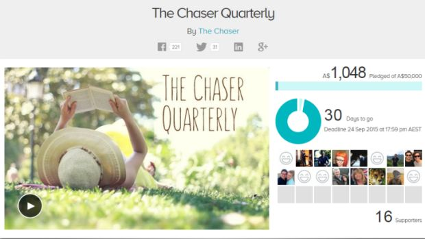 Fundraising campaign kicks off for The Chaser magazine.