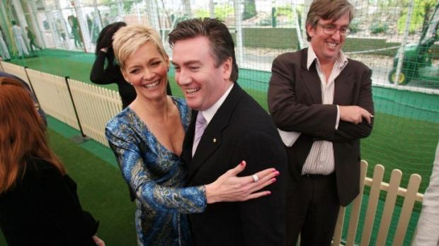 Former Nine presenter Jessica Rowe and former Nine CEO Eddie McGuire in happier times in 2006.