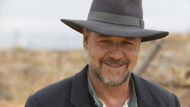 Russell Crowe on the set of <i>The Water Diviner</i>.