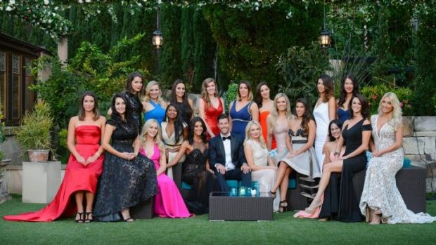 The Bachelor with his original bevvy of women.