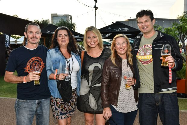 Lover of amber - and other - ales, gathered for Beer-Fest in Perth's CBD.