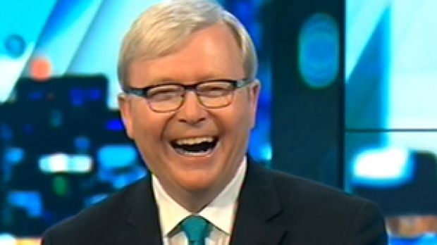 Former prime minister Kevin Rudd appears on <i>The Project.</i>