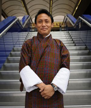 Something to smile about: Karma Tshiteem is setting out to keep his fellow Bhutanese grinning.