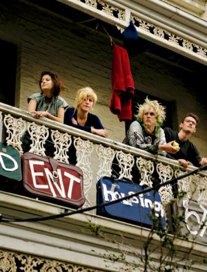 Preoccupied: Allegra Reinalda (second from left), spokeswoman of the Student Housing Action Collective, with fellow ...