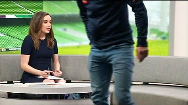 'There goes Mitch': Melbourne Victory's Mitch Austin walks out of interview