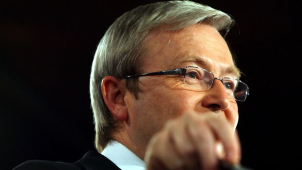 "Prime Minister Kevin Rudd at the National Press Club in Canberra yesterday: ""What we have seen is the comprehensive ..."