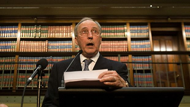 Former prime minister Paul Keating at the book launch yesterday where he challenged the Gallipoli narrative.