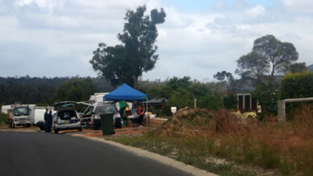 Police at the scene of a fatal shooting in Donnybrook overnight.