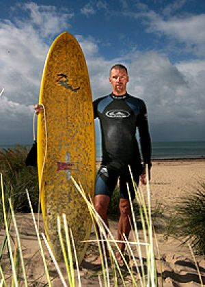 Drew Ginn is used to battling pain. Now his battle is against the state's desalination plant.