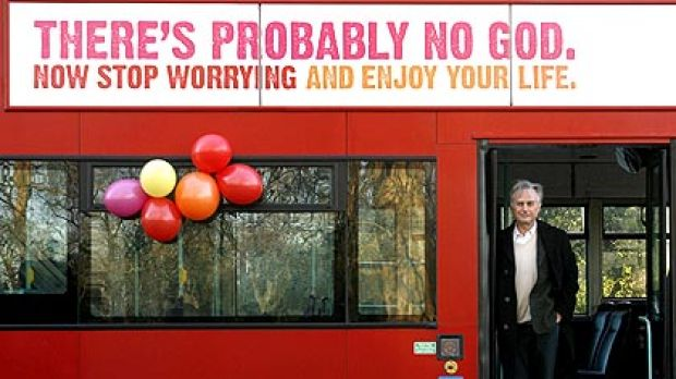 Author Richard Dawkins, who wrote The God Delusion, lends his support as the London bus atheism advertising campaign is ...