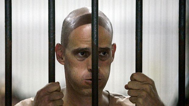 Harry Nicolaides waits in a Thai cell for his trial on charges of maligning Thailand's king. He was later found guilty ...