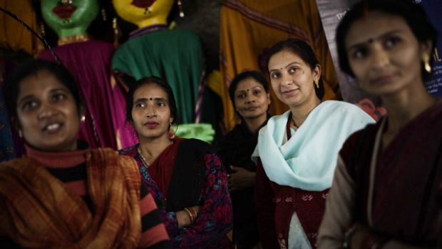 Demand for the services of Indian surrogate mothers such as Neelam Chauhan (second from right) have jumped in the past ...