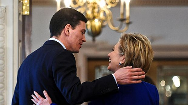 Close but not too close: British Foreign Secretary David Miliband met US Secretary of State Hillary Clinton earlier this ...