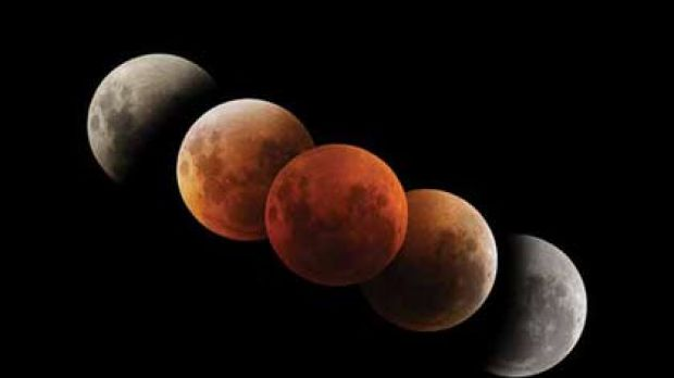 The partial lunar eclipse will be visible for about four hours from 9.37pm.