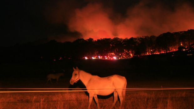 Fires continue to menace communities near Beechworth.