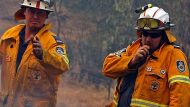 Firefighters at Dederang