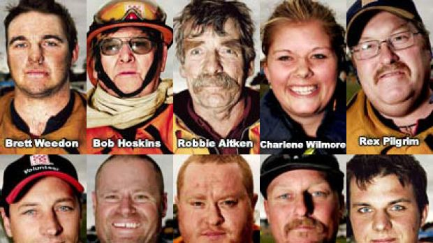 Some of the brave firefighters who have tackled Victoria's bushfires.