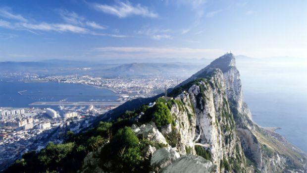 Football outpost: Gibraltar and its famous rock.