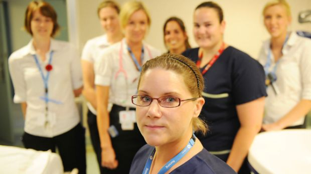 Burns liaison nurse Hana Menezes (front)  and other staff at The Alfred hospital are caring for comatose bushfire victims.