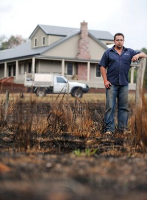 Builder Andrew Schilling moved to Kinglake West a week before the fires and now wants to play his part in the new ...
