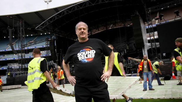 Michael Gudinski at the MCG.