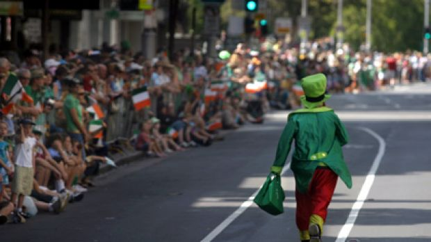 The crowds always turn out in full force to celebrate St Patrick's Day.