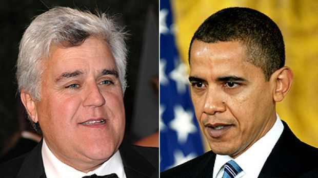 Talk show host Jay Leno will interview Barack Obama on Friday.