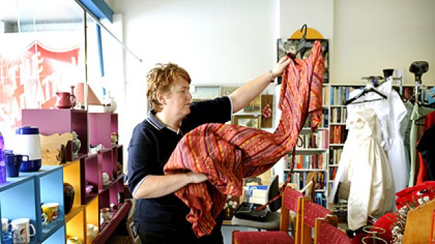 The Salvation Army's Ashburton thrift store is tempting the fashion-conscious in tough times.