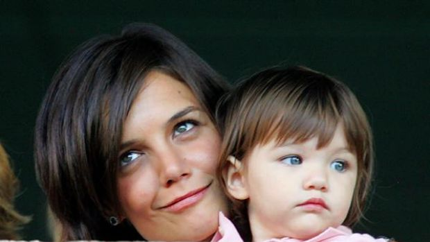 Mother love ... Katie Holmes and daughter Suri.