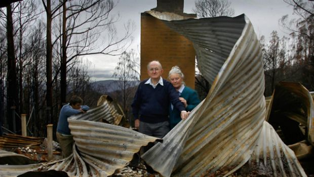 Sister Sue McGovern, left, Father Kevin Goode and Sister Margaret Ryan have spent the past nine weeks in the bushfire ...