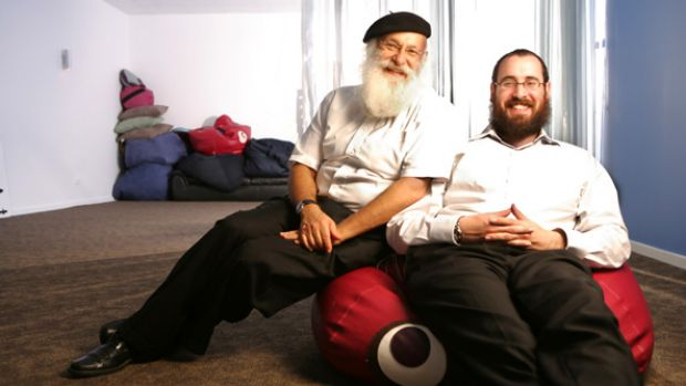 "Father and son rabbis Laibl and Menachem Wolf: ""We bring together ancient teachings and tradition with contemporary ..."