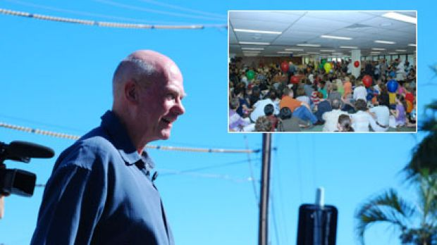 Fr Peter Kennedy led his 'St Mary's in exile' flock to the Trades and Labour Council Hall in South Brisbane in mid-April ...